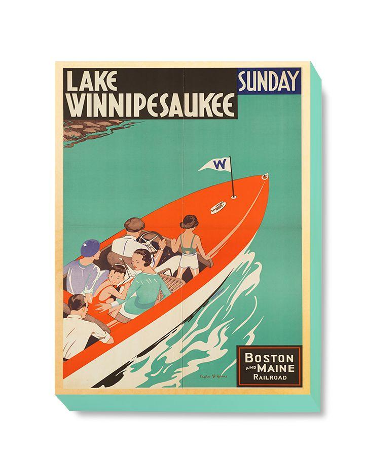 TRV 056 Travel Art Lake Winnipesaukee