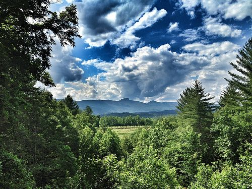We love this view from a home in the mountains near Linville Gorge. Don't you?