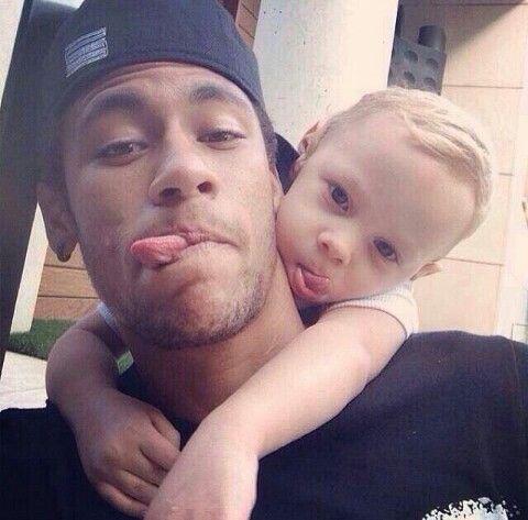 Neymar jr and his son ♡♡♡