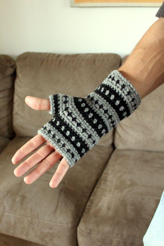 Instant Download Crochet Pattern AK Handwarmers by Mamachee