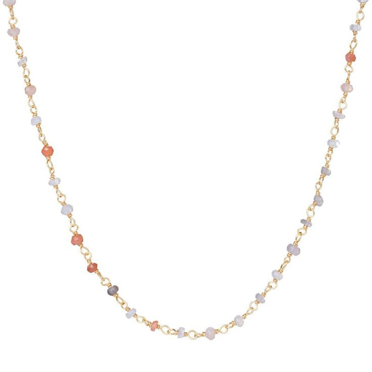 Earth Stones Golden Necklace