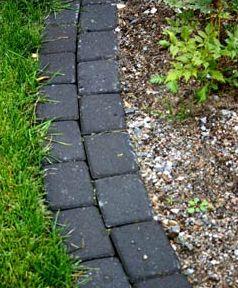 how to cut a garden edge in grass