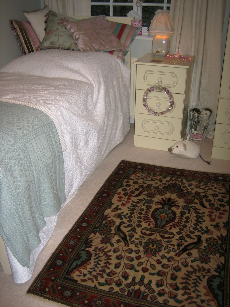A small Tabriz carpet on a cute kids' room in England