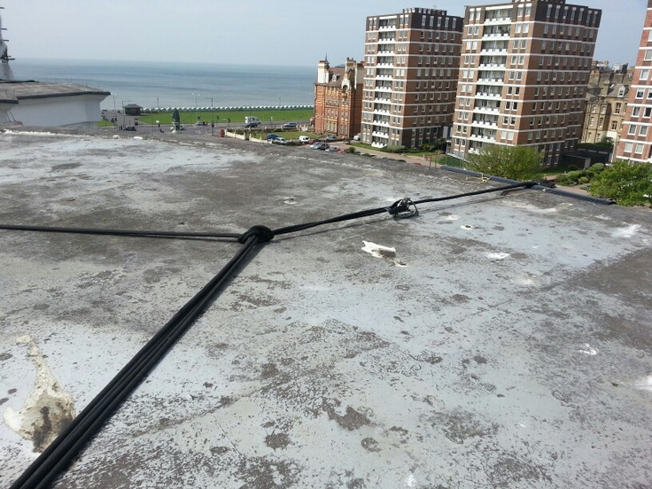 Another day on the ropes, good sea views with this job.
