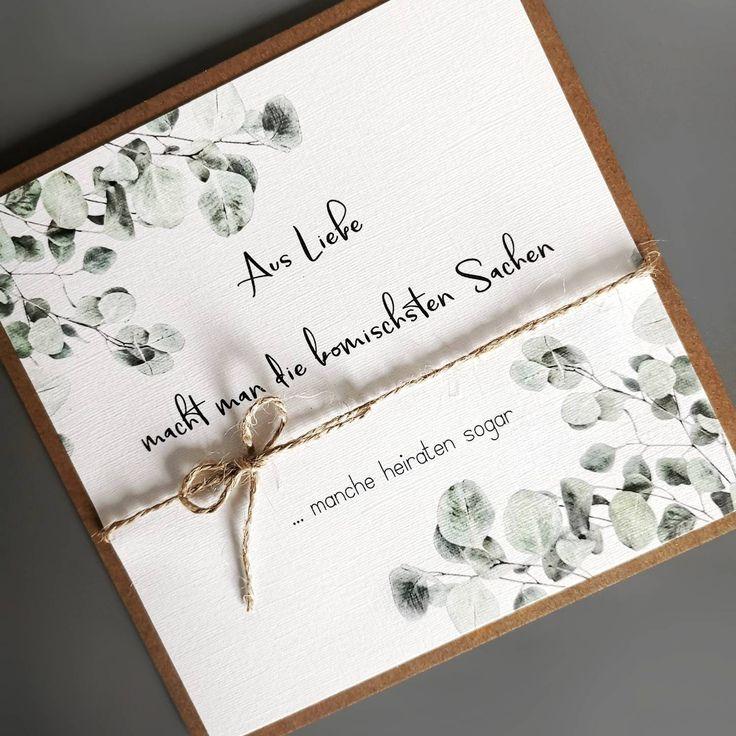 Eukalyptus Einladung Hochzeit