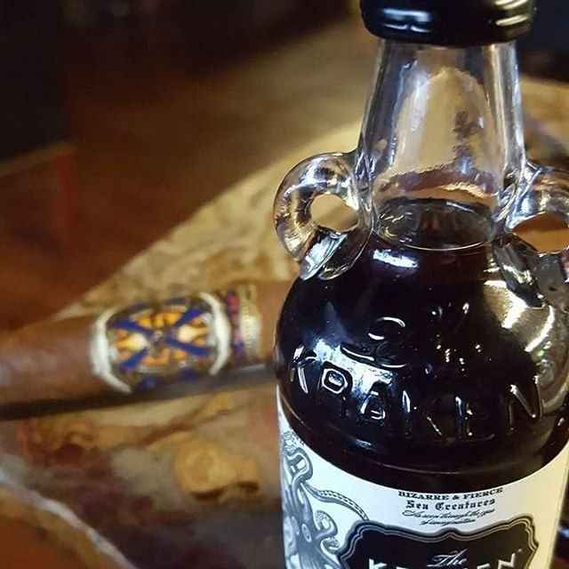 """#PatronPhoto #MT """" @Tobaccocompany @AFuenteCigars  This is what I'm drinking to celebrate ME BEING ME and made it thru another year! Here's to 2017!!! """"  Exactly way to create a special occassion. Release the Kraken AND the Blue! Here's to turning the page to a top-notch 3017!"""