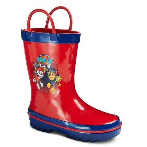 Toddler Boys' Paw Patrol Rain Boots - Red