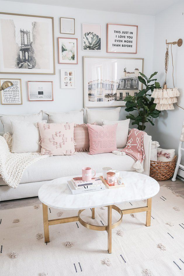 These 15 Pink Living Rooms Are Simply Effervescent Pink Living Room Blush Living Room Perfect Living Room Decor
