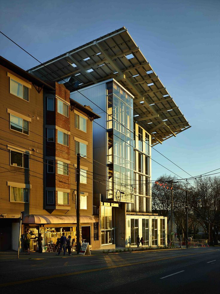 Bullitt Center | This is one of our great inspirations!  It is arguably the greenest commercial building in the world. It is a net-producer of energy, contains zero red-list chemicals and has been designed to last 250 years! This building doesn't incorporate SIREWALL; however, structural insulated rammed earth makes a perfect building system for achieving similar results.