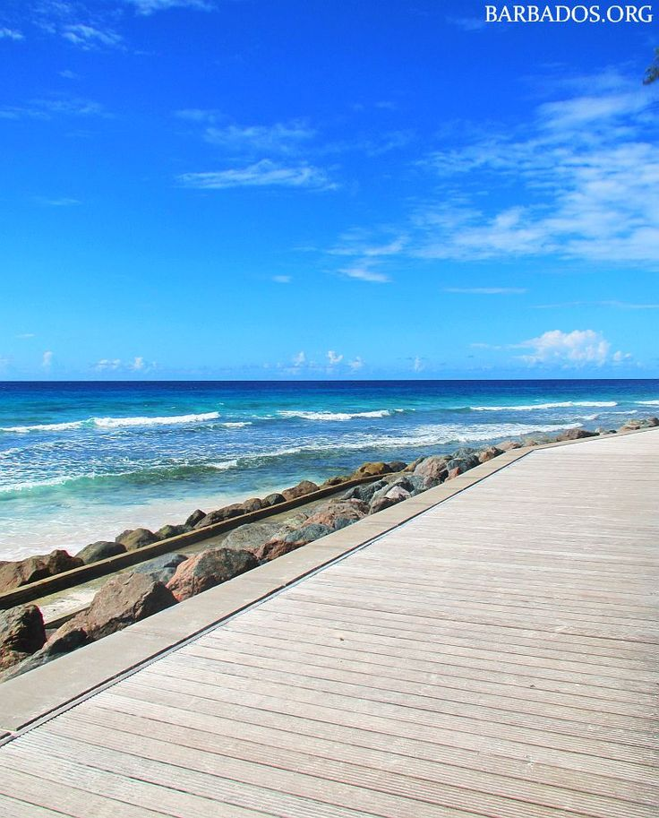 Another gorgeous day along the Barbados south coast boardwalk!