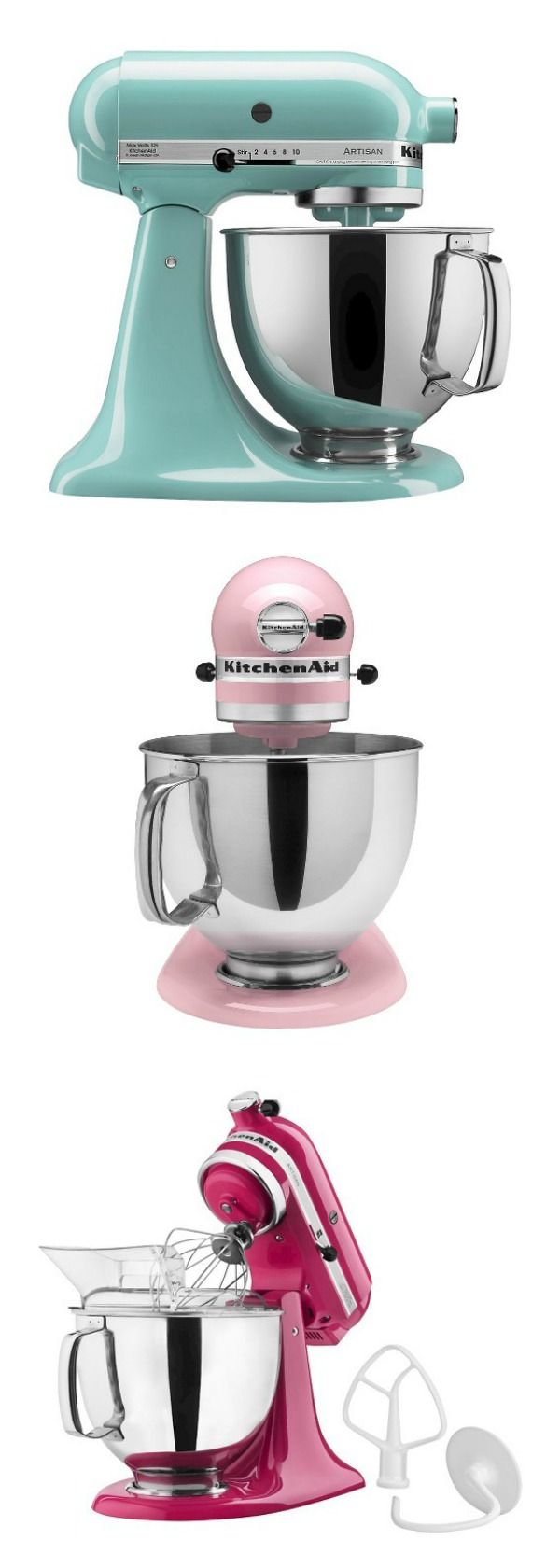 Whether you're looking for a gift, or simply looking to add a versatile tool to your own kitchen, this KitchenAid Artisan Stand Mixer is the perfect solution. It features 10 different speed settings, a tilt-head design, and a 5-quart stainless steel mixing bowl that fits a variety of different mixing needs. This electric stand mixer comes with a dough hook, flat beater, wire whisk and pouring shield so you can create a wide range of baked goodies or recipes with ease. #affiliate #target…