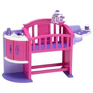 Plastic Doll Nursery Play Children Kids Toddler Crib Accessories Toys Girls  | eBay