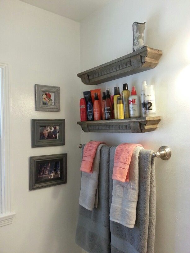 Delightful My Country Themed Bathroom (coral And Gray)