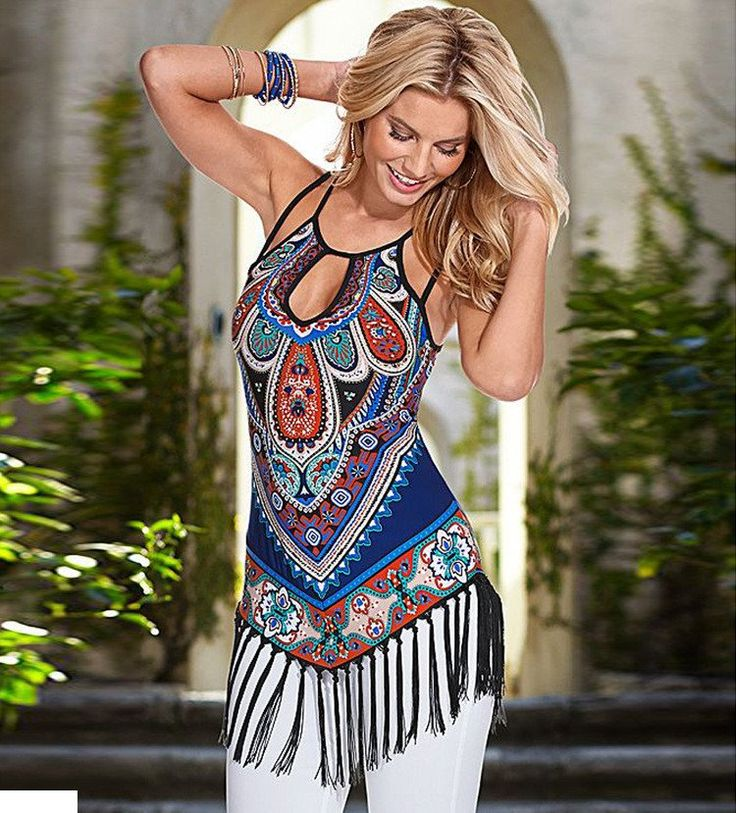 New Hot Colorful & Casual T Shirt - Bohemian Style - Very Comfortable