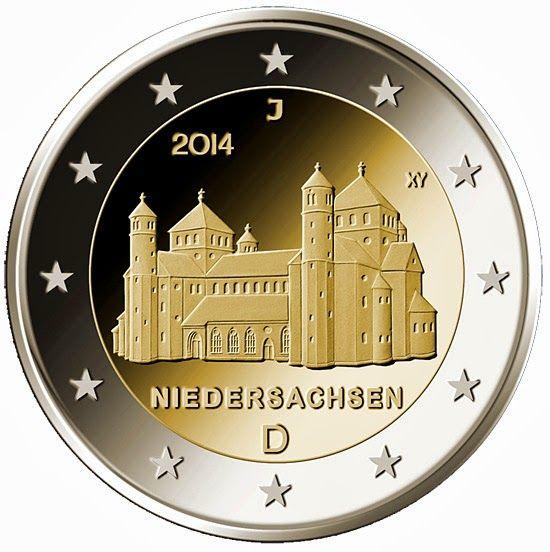 "German commemorative 2 euro coins - Niedersachsen - Lower Saxony from the ""Bundesländer""- series Commemorative 2 euro coins from Germany"