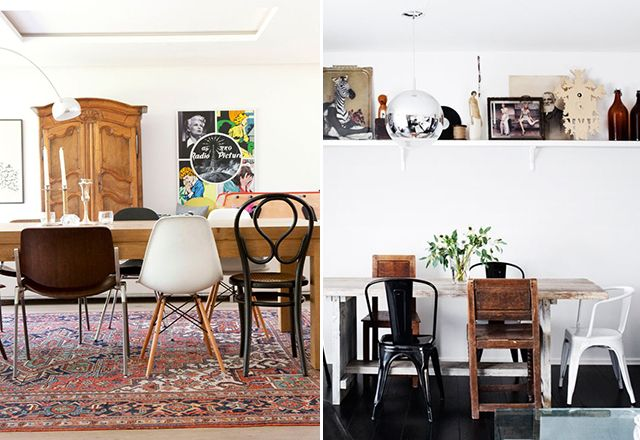 mismatched chairs inspiration