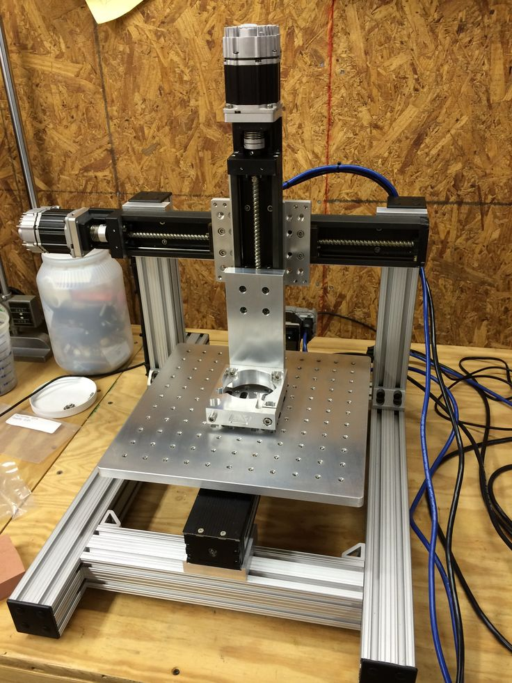 Mini CNC built with THK KR33 linear actuators, 80/20 aluminum extrusion and custom brackets from Neo7CNC.com