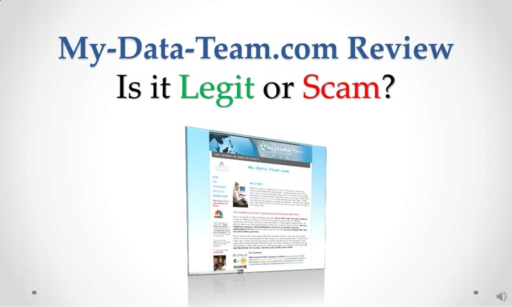 my-datateamcom-review-legit-or-scam by Sandeep Iyengar via Slideshare