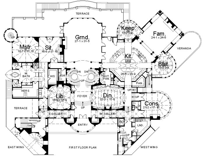 luxury mansion house plans - Mansion House Plans