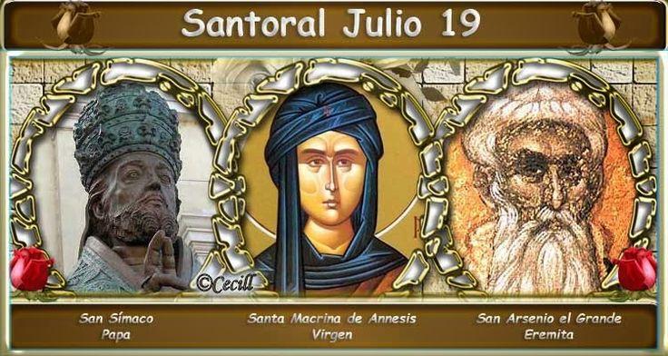 Vidas Santas: Santoral Julio 19