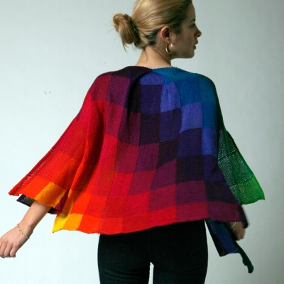 Helen Hamann Rainbow Cardigan - could be done with Zoom Loom . . .