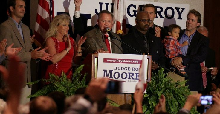 Mr. Moore, a firebrand former chief justice of the Alabama Supreme Court, overcame efforts by top Republicans to rescue his rival, Senator Luther Strange, soundly defeating him on Tuesday in a special primary runoff.