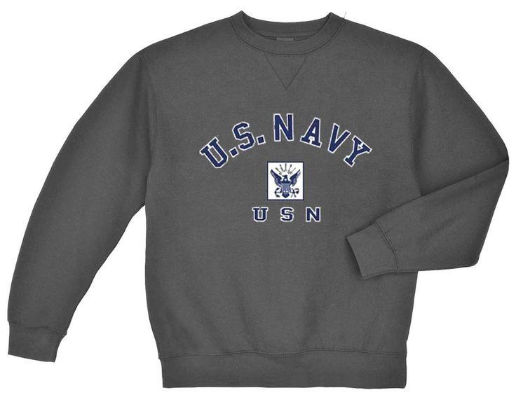 US Navy sweatshirt Men's dark gray USN sweat shirt usn eagle design #Gildan #TracksuitsSweats