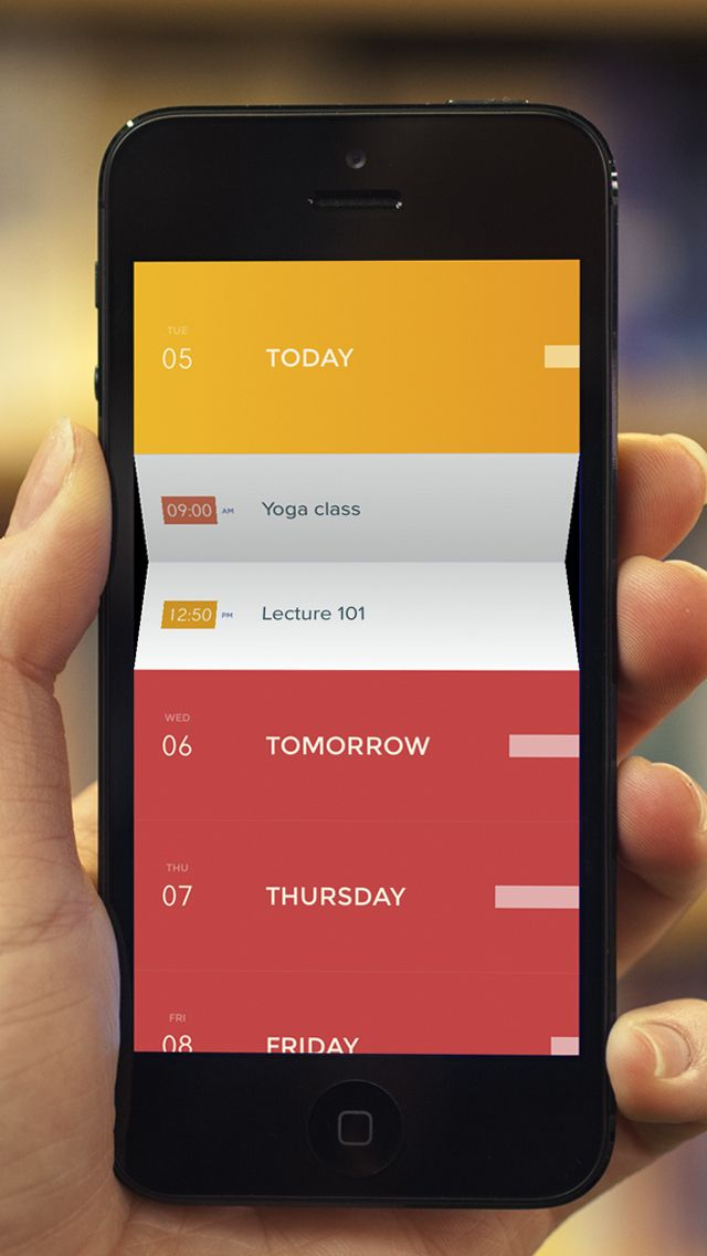 Peek Calendar - Simple & Minimalist Cal by Square Mountains gone Free