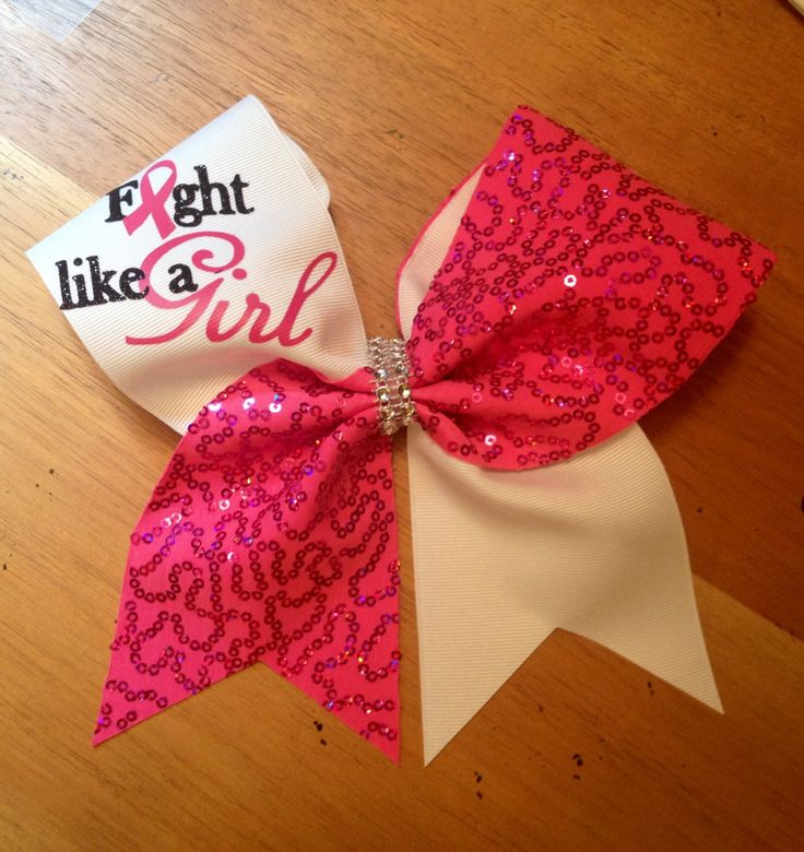 Breast cancer cheer bow  awareness cheer bow  cheer by Bellabows76, $14.00