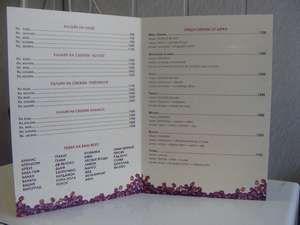 Барное меню из картона в Одинцово; Типография РЕНОМЕ