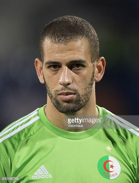 SLIMANI of Algeria during the Group B match between Senegal and Algeria at Stade Franceville on January 23 2017 in Franceville Gabon