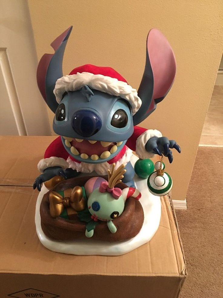 Rare Walt Disney World LImited Edition 300 Christmas Santa Stitch Big Fig In Box | Collectibles, Disneyana, Contemporary (1968-Now) | eBay!