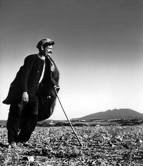 Herbert List. GREECE. Peloponnese. Arcadia. Herdsman. 1937. Magnum Photos -