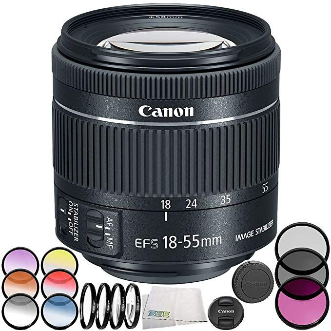Canon Ef S 18 55mm F 4 5 6 Is Stm Lens 7pc Bundle A Includes Manufacturer Accessories Microfi Microfiber Cleaning Cloths Digital Camera Lens Cleaning Cloth