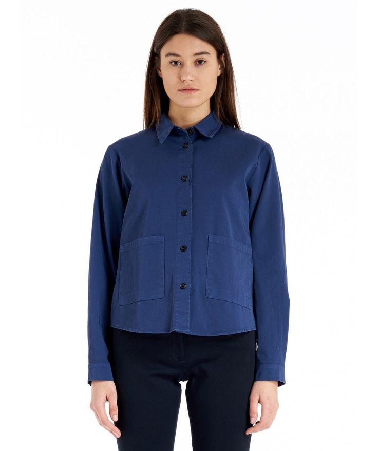 Jacket Sally Loto Bluette   Bluette Woman Jacket, with patch pockets.  www.barenavenezia.com