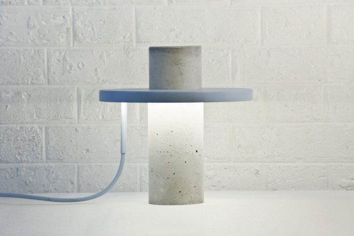 TOTEM la lampe béton par Alexandre Dubreuil