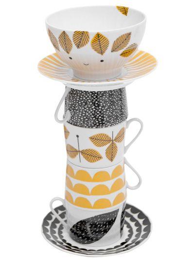 House of Rym: illustrators take on grogeous porcelain cups.