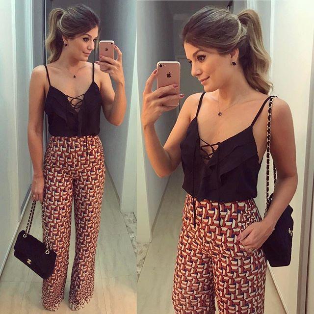 {Pantalona + Regata by @melovemodas ❤} • #ootn #selfie #lookdanoite #blogtrendalert