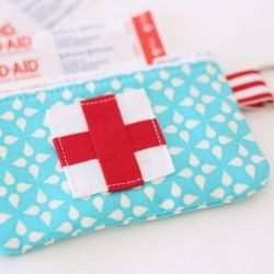 This small travel zippered pouch is perfectly sized to hold your travel essentials.   Need to make this for the cruise
