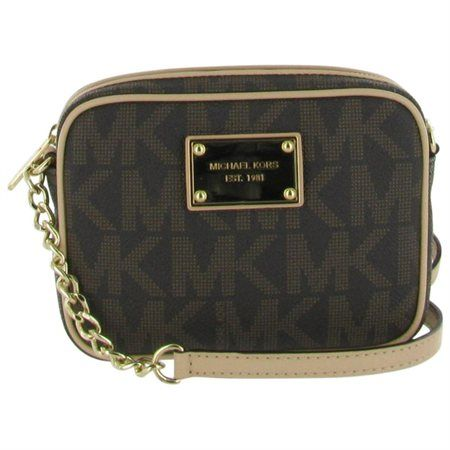 Michael Kors Jet Set Women's Small Crossbody Handbag Purse Brown - Rakuten.com