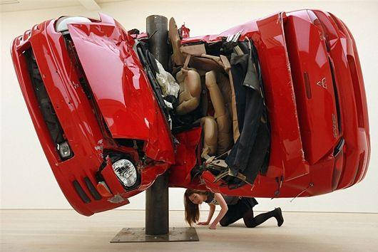 Crashed Cars Sculptures by Dirk Skreber | Inspiration Grid | Design Inspiration