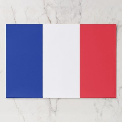 Tearaway paper pad with Flag of France - paper gifts presents gift idea customize