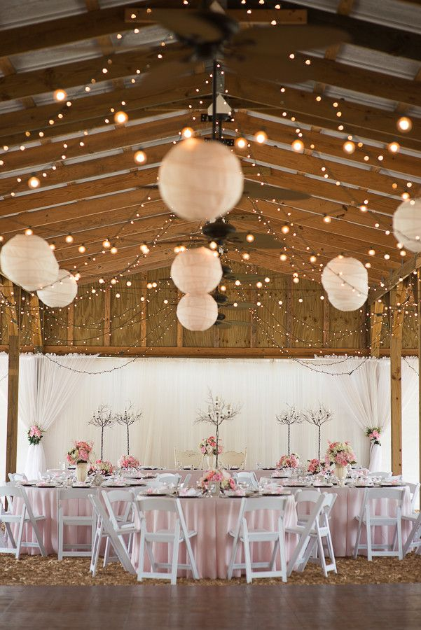Chinese Lanterns, Paper Lanterns, Barn Wedding - Pink & Silver Rustic Country Wedding - Plant City Wedding Photographer Jeff Mason Photography