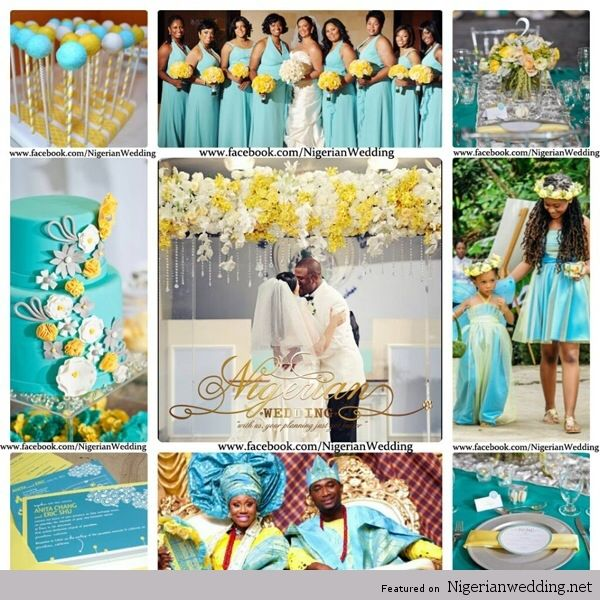 63 best nigerian wedding color schemes & themes images on pinterest
