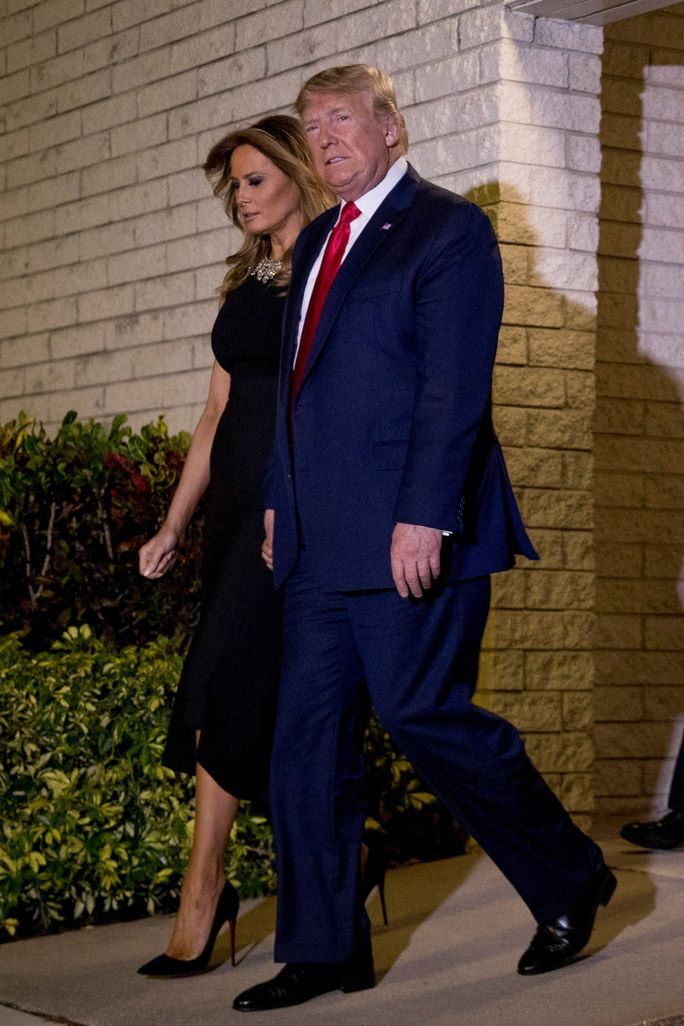 Melania Trump Wears All Black for Christmas Eve With 5-Inch Louboutin Heels | Wearing all black, Celebrity shoes, Simple black dress