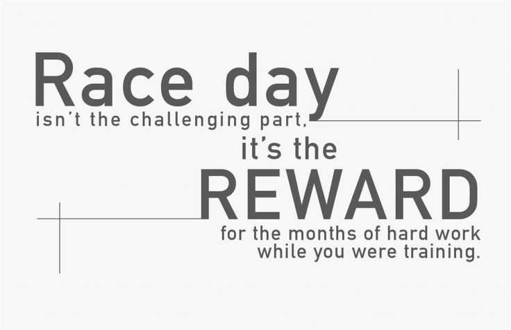 Triathlon motivation. Race day