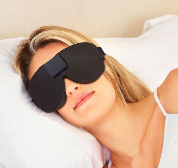 This sleep therapy mask that blocks out all light.   31 Things You Need For The Best Night's Sleep Of Your Life