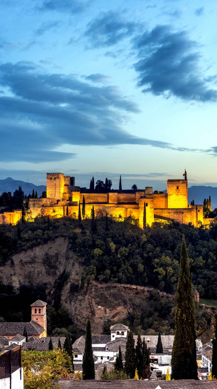 """The Alhambra, """"the red fortress"""", a palace and fortress complex located in Granada, Andalusia, Spain 
