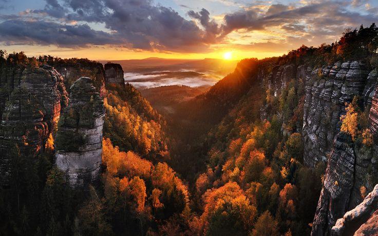 Podzimní Pravčický důl (České Švýcarsko) od Pavla Kláska