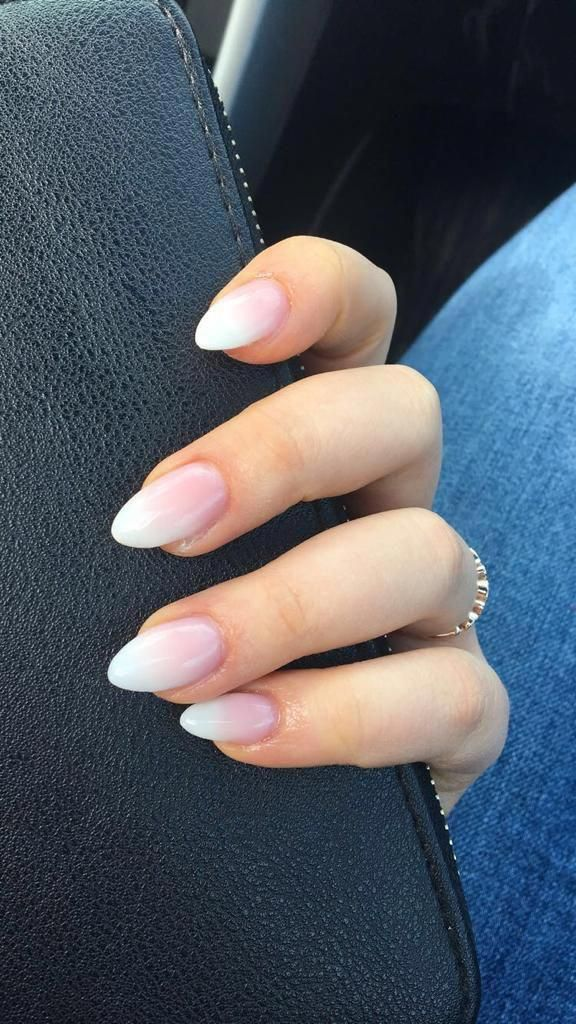 Acrylicnails Nails Acrylic Ombre Pink White Pinknails Oval Acrylic Nails Coffin Nails Ombre Ombre Acrylic Nails